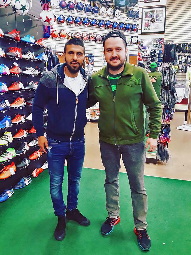 Javier Morales at Soccer City Frisco